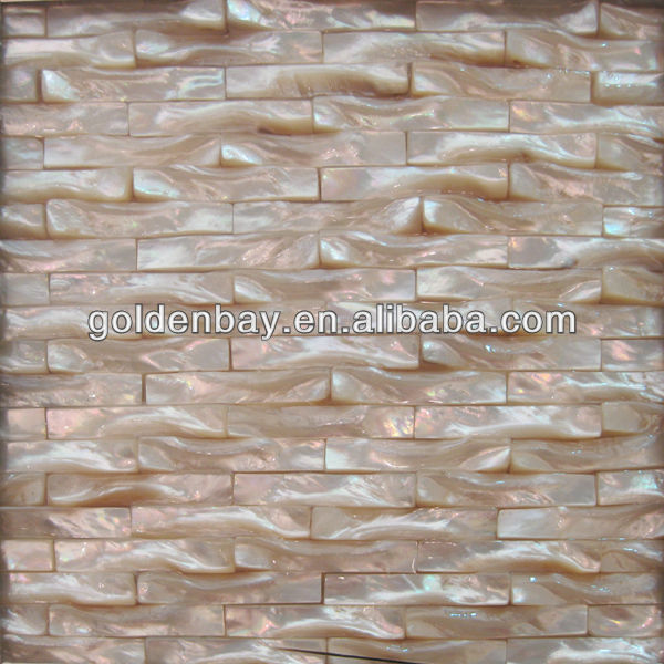 Twist White Lip Mother of Pearl Mosaic