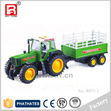 ABS plastic free wheel plastic farm toy tractor