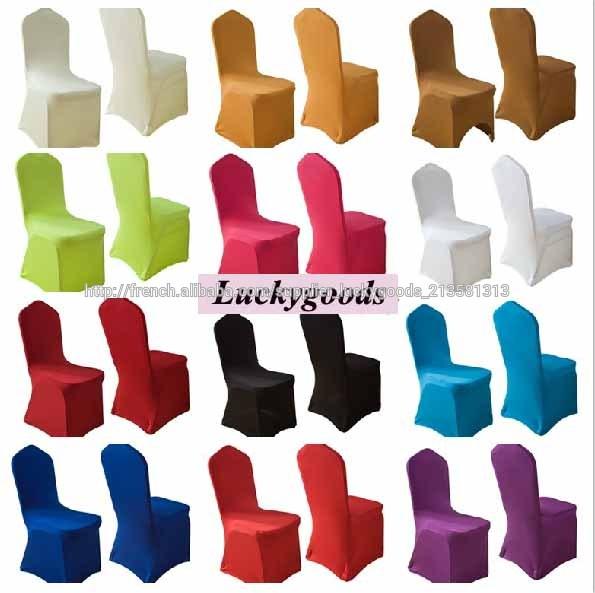 Color chaise de spandex pas cher couvre pour les mariages - Housse de chaise lycra pas cher ...
