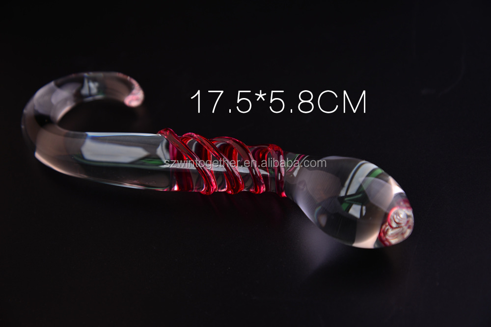 Cheap gaint glass dildo for clitoris stimulator adult toys