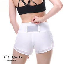 Unisex Running Shorts Breathable Yoga Gym <strong>Sports</strong> Short with back pocket