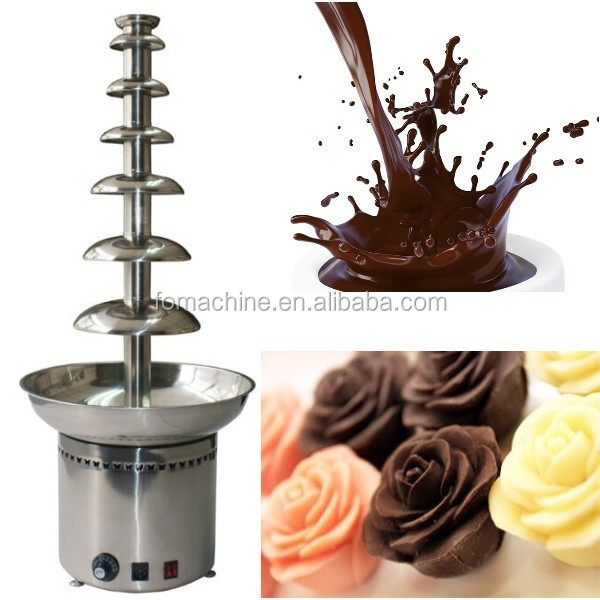 2015 stainless steel newest led chocolate fountain base