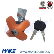 MK405-6 Color Painting X-handle Lock for Kitchen Cabinet