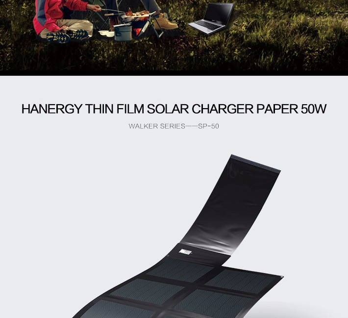 Hanergy CIGS 48w portable and foldable electric bike solar charger with high output