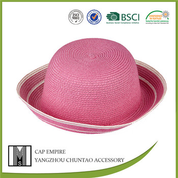 BSCI audit straw roll brim hats