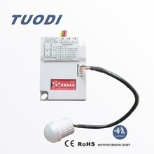 TDL-2012-AC mini motion sensor switch delay time adjustable with dip switch