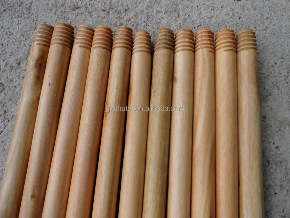 varnished wooden broom handle tip for mop china supplier