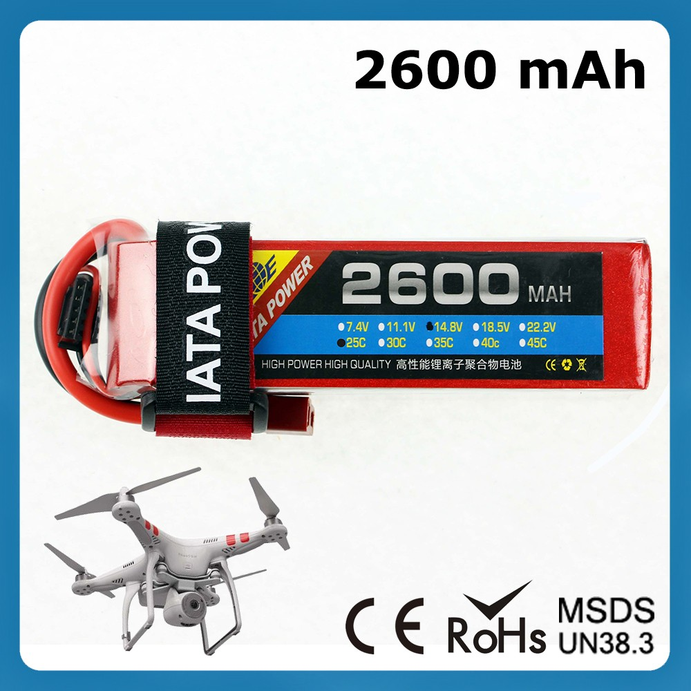 Robot rechargeable lithium batteries 3.7v 25c 2600mah rc lipo battery