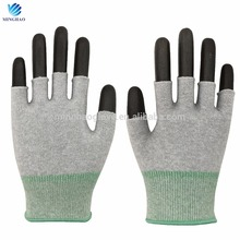 Hot selling products half fingers glove assembling powder free gloves with Rohs