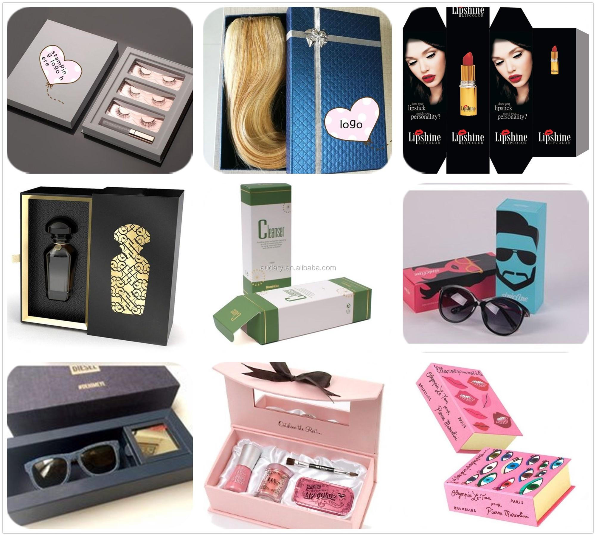 Custom Cardboard box Luxury Hair Extension wig paper Packaging box, paperboard gift box, magnetic flap box