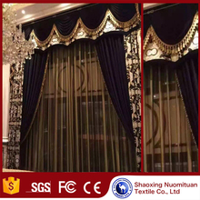 china suppliers luxury drapes high quality luxurious curtain with valance