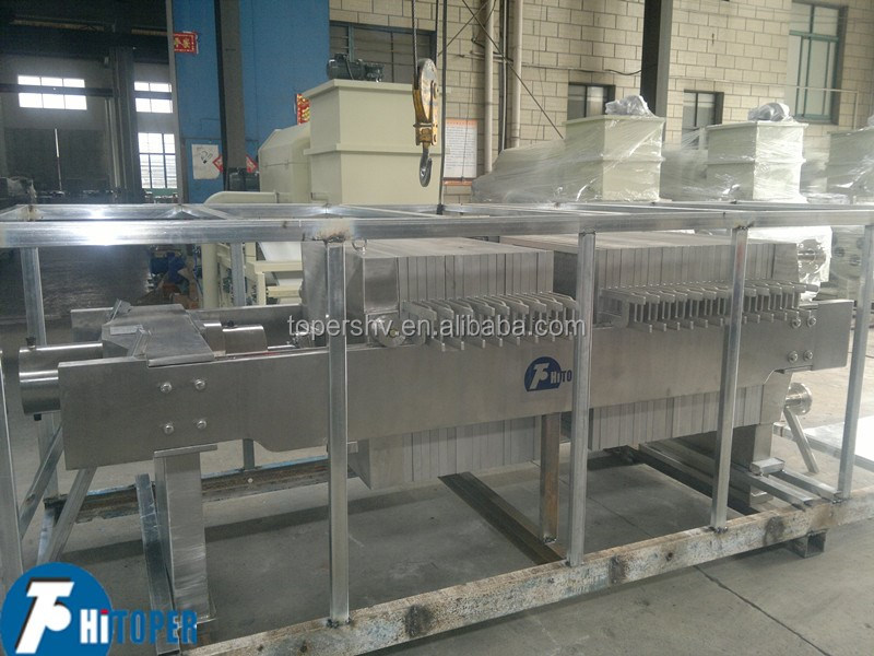 High pressure 1.2Mpa membrane filter press. manual or automatic discharge filter press