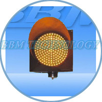 300mm yellow flashing traffic lights warning ball