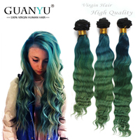 New product mermaid 100% human ombre hair braiding hair,brazilian deep wave 3 tone color ombre hair
