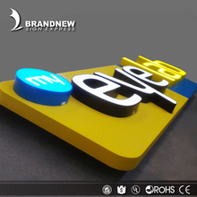 Customized factory price 3D channel acrylic face led light letter outside sign