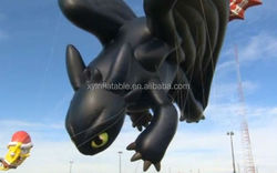 advertising giant inflatable toothless dragon