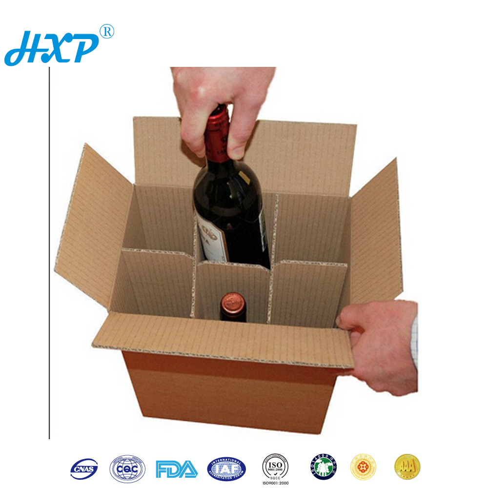China Supplier Strong Packaging Cheap custom 6 bottle cardboard wine box