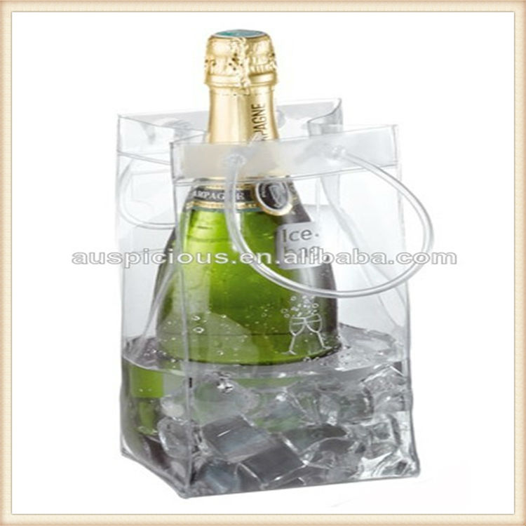 Nice quaility and foldable ice cooler plastic carrier bags for wine