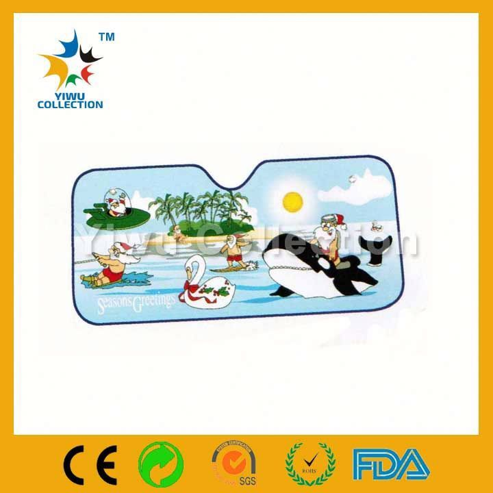 color car sunshade,foldable paper car sun shade,folded 170t polyester car sun shades