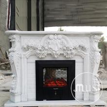 home decoration natural stone cultured free standing fireplace