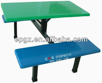 School cafeteria table and bench from China