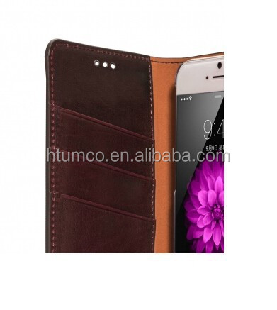 Herman Series Book Style Case,mobile phone case,Cowhide Leather case for Apple iPhone 6 5.5""