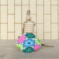 car air freshener hot stamping wooden cap glass car perfume bottle