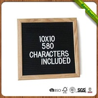 Oak Frame Changeable Felt Letter Board