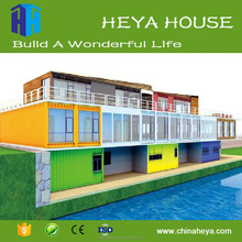 Assembly luxury prefab container hotel office workshop house made in China