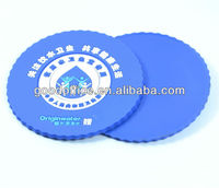OEM factory supply custom design PMS color rubber beer coasters