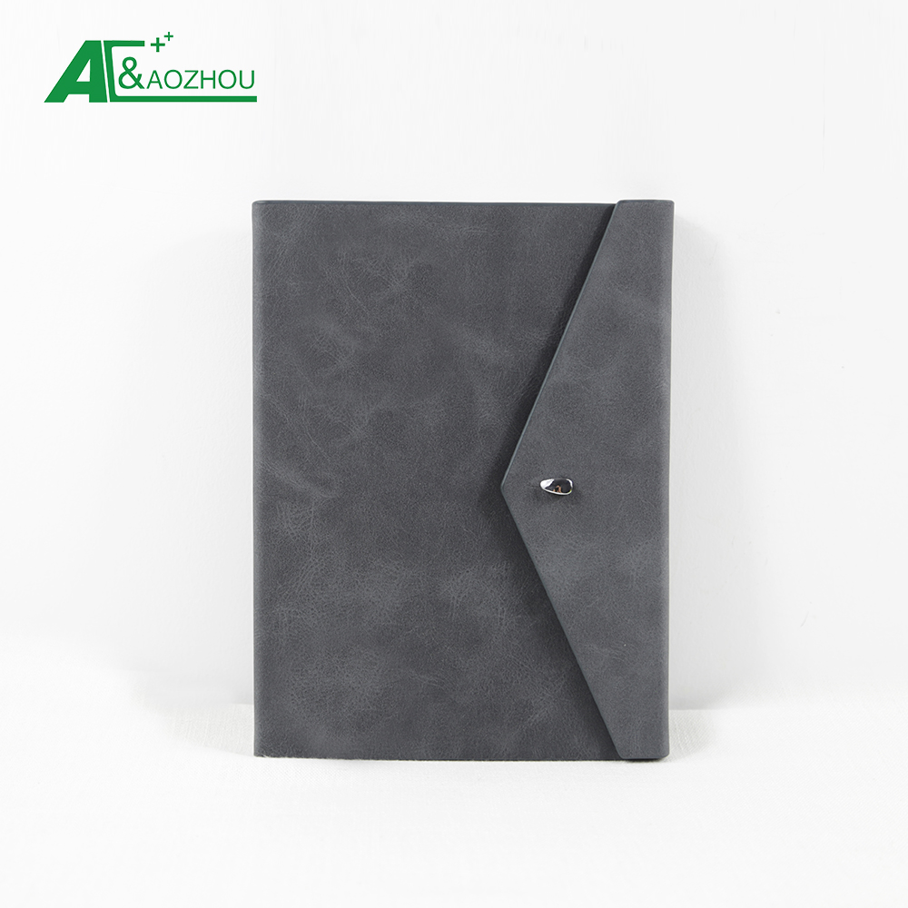 Hardcover Style and Leather Cover Material notebook