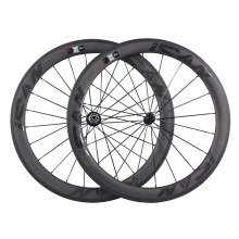 700c ican carbon fiber bike wheels 56mm clincher road bicycle wheel with glossy logos W56C