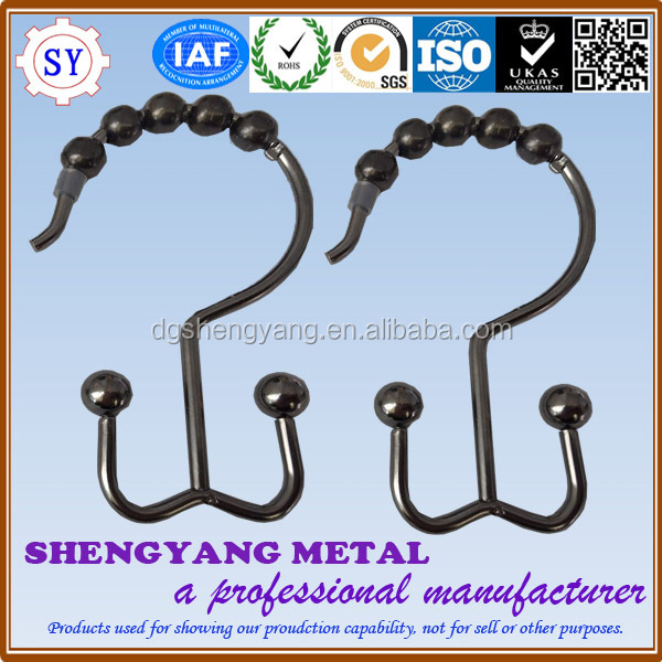High Quality Metal Curtain hooks Shower Curtain Rings