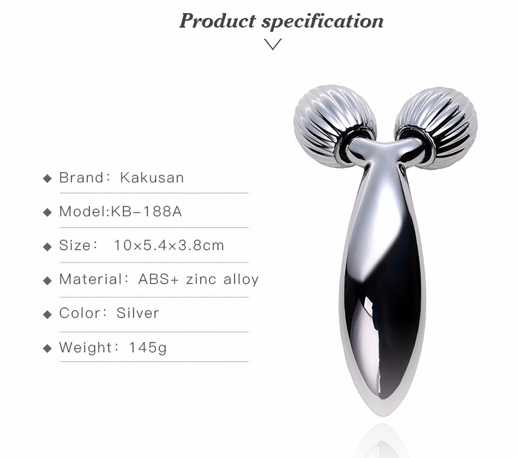 kakusan face lifting portable mini Y shaped facial beauty roller massager