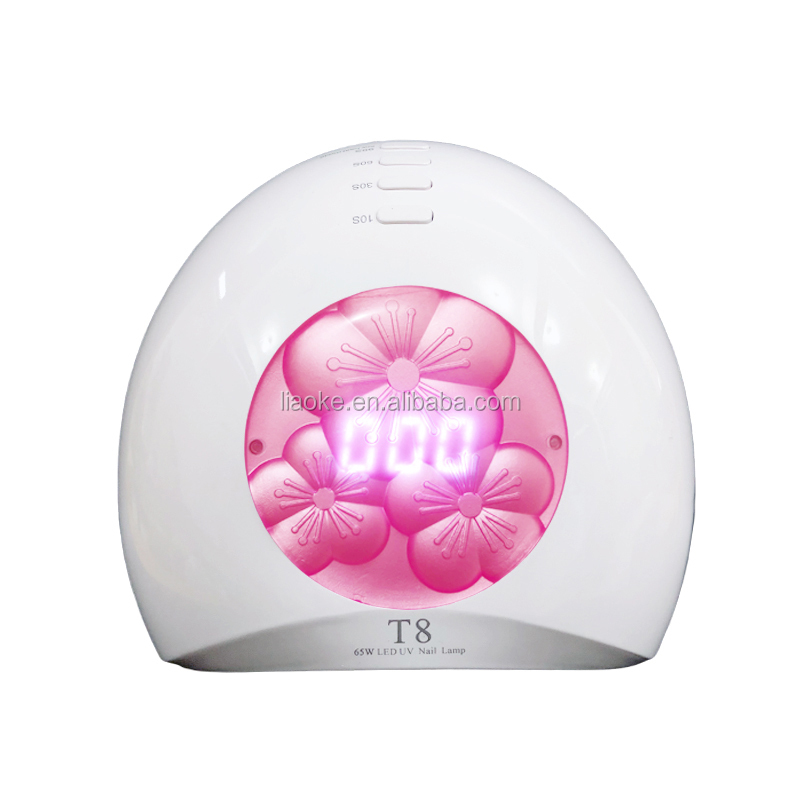New arrival T8 65W LED UV Nail Lamp High Quality Hotsale Sunlight UV LED Nail Lamp