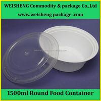 High Quality Disposable biodegradable Plastic Food Packaging Microwave Lunch Containe