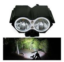 High Quality 2000 Lumen CREE XML U2 LED Bike Light X2 Bicycle Front Lamp Outdoor Flash Hesdlight With Battery Pack & Charger