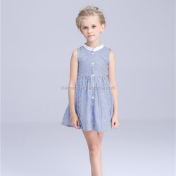 Alibaba factory price children latest design for party cotton baby dress