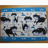 UW-PPC-021 Eco-friendly black cats pattern pet pad for dogs and cats,dog pad,cat pad