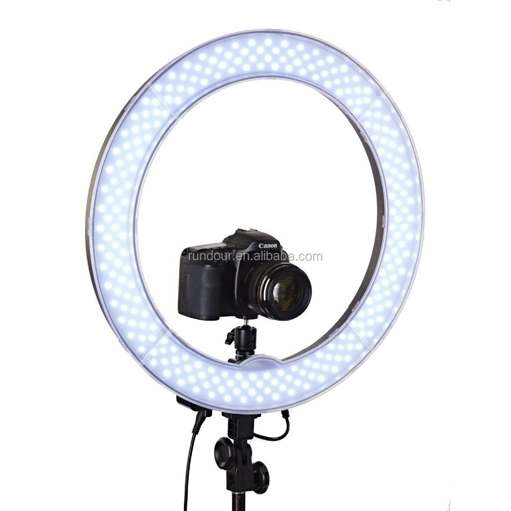 "Camera Photo/Studio/Phone/Video RL-18"" 55W 240 LED Ring Light Illumination Pink Selfie Light With Phone Holder New Gift"