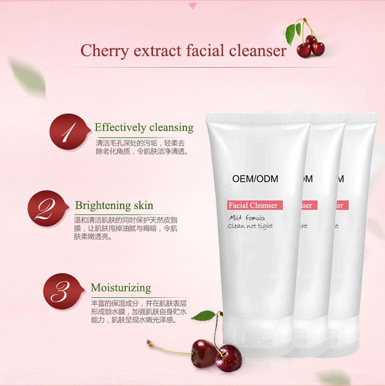 premium skin cleansing hydration mild fruit facial cleanser cream for women