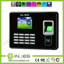 backup battery data collection machine biometric fingerprint Reader Network Time Attendance with IP camera