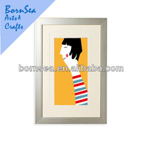 figure sketch modern art framed Photographic Print hanging wall painting
