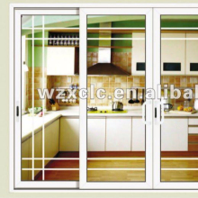 aluminium sliding glass door with grills