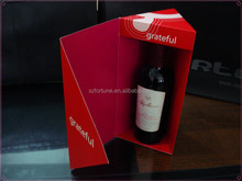 Wholesale folding cardboard wine carrier box for silicone rubber wine glass suction bottles