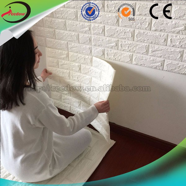 Baby foam wallpapers self adhesive wall panels 3d pe foam wal sticker types of acoustical materials