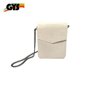 Long Chain Leather Women Sling Shoulder Crossbody Bags