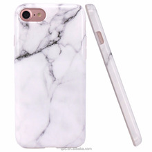 For Amazon Hot Sell for iPhone 7 Case White Marble Design Slim Bumper TPU Soft Case Rubber Skin Cover for iPhone 6Plus 6S 5S