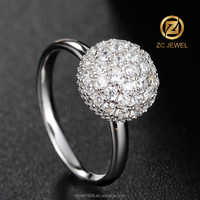 Preferential opal silver prom jewelry dragon ball ring price