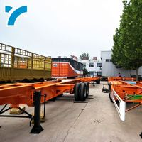 Wholesales Car Trailer Parts Transport 20Ft 40Ft Container Container Trailers